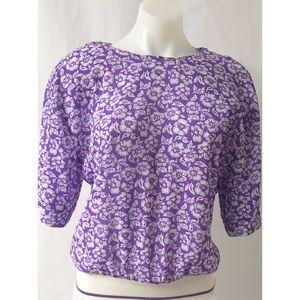 Purple & White Top Size Medium